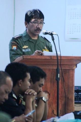 Pemaparan oleh Kepala Balai TN Taka Bonerate Ir. Noel Layuk Allo, MM