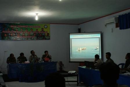 Pemaparan materi oleh Kapolres Kepulauan Selayar AKBP. Moh. Hidayat B.SH., SIK.MH