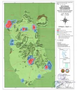 Peta Zonasi TN Taka Bonerate