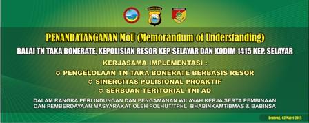 MOU TNTBR POLRI TNI